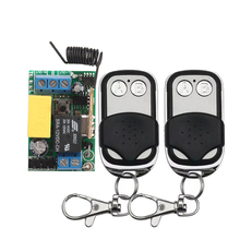 1CH AC 220V RF Wireless Mini Switch Relay Receiver 2CH Remote Controllers Lighting LED Lamp ON OFF Learning Switch