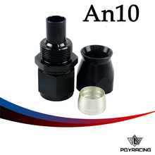 PQY RACING- BLACK High Quality PTEF AN10 AN-10 Straight REUSABLE SWIVEL TEFLON HOSE END FITTING AN10 PQY-SL6000-10-021