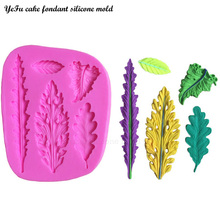YeFu High quality 3D Different shapes of leaves chocolate Party cake decorating tools DIY baking fondant silicone mold T0425