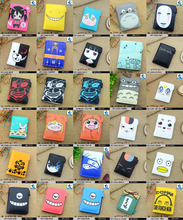 Anime Hatsune Miku/Tokyo Ghoul/Naruto/Gintama/Totoro/Lovelive/Hell Girl/Death Note/ Monokuma etc PU Wallet with Button