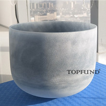 "Buy TOPFUND Moldavite Fusion D# Note Sexual Chakra Frosted Quartz Crystal Singing Bowl 8"" Free Mallet O-Ring"
