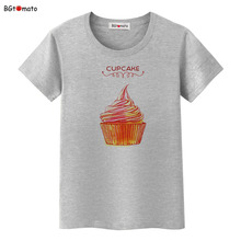 BGtomato Creative design cupcake T-shirts Original brand New clothes cool casual shirts women tops tees cheap sale