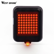 WEST BIKING Bike LED Light Cycling Flashlight Rear Light Auto-Sensing Intelligent Direction Warning Brake Bicycle Tail Light(China)