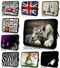 Soft Neoprene 10, 11.6 ,13, 13.3, 14,15, 15.6, 17, 17.3 Inch Universal Laptop Sleeve Bag Case Computer Cover Pouch White Tiger