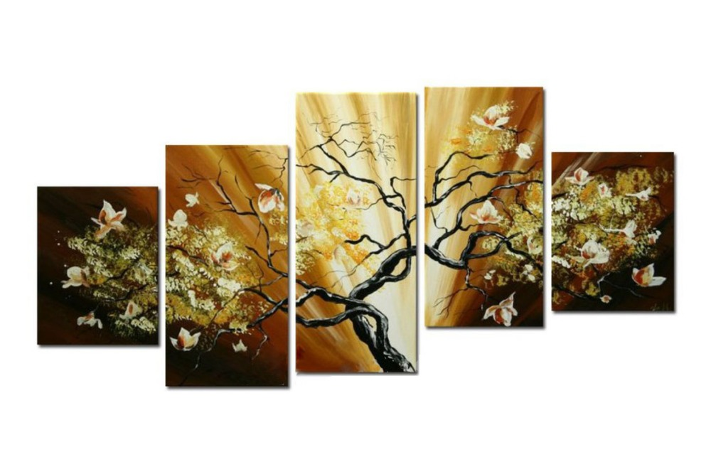 hand-painted oil wall art Purple flowers water side home decoration ...