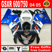 Buy SUZUKI 2004 2005 white black blue GSXR 600 750 fairing kit K4 gsxr600 QTV 04 05 gsxr750 fairings kits motorcycle 894 for $279.00 in AliExpress store