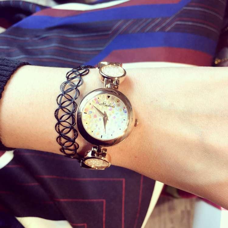Female Watch Quartz-Watch High-Grade Ladies Watch Crystal Sand Bracelet Strap Rose Gold Case Full Diamond Watches Women<br><br>Aliexpress
