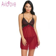 Buy Avidlove Sexy Hot Lingerie 2018 Women Underwear Sex Baby Doll Dress Backless Floral Lace Erotic Intimate Porn Exotic Apparel