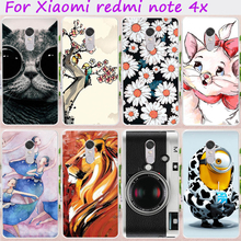 Cases for Xiaomi Redmi Note 4X Cover 4 X Note4X 5.5 inch Hard Plastic Soft TPU Anti-Skidding Cell Phone Skin Hood Housing