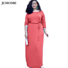 Buy Big Size Autumn Women pink Dress 2018 Party Dresses Plus Size Women Clothing Office Dress Large Size 3XL Sexy floor length gown for $14.91 in AliExpress store