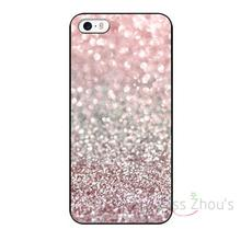 For iphone 4/4s 5/5s 5c SE 6/6s 7 plus ipod touch 4/5/6 back skins cellphone cases cover Girly Pink Snowfall Custom Design(China)