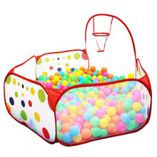 2017 New Arrival 90cm Funny Basketball Childrens Kids Baby Easy Folding Toy Tent Ball Pit Playhouse Pop Up Garden Pool DW885622(China)
