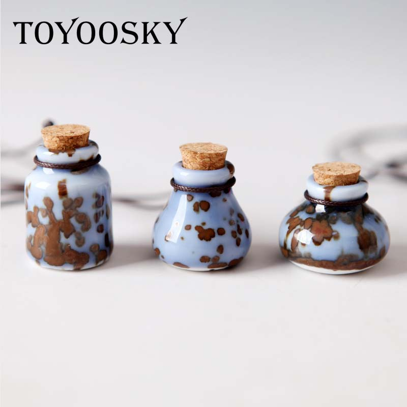 TOYOOSKY New Hot Fashion Women's Neckalces for Girls Pendants Perfume Bottle Wholesale Gift Retro Ceramic Accessory Jewelry(China (Mainland))