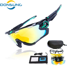 DONSUNG NEW Arrival Polarized Cycling Sunglasses 5 piece of Lenses MTB Bike Goggles Bicycle Eyewear Cycling Sports Glasses(China)