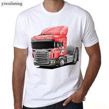 yiwuliming SCANIA Saab Men T Shirt KTW Freightliner Iveco Kenworth Truck Brand Male T-shirt For Man Casual Mens Tops Tees