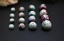 Yiroyal fambe ceramic beads high temperature porcelain red blood blood Guinea retro beads DIY 01230