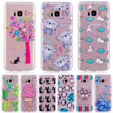 Cats Penguin Case For Samsung Galaxy A3 A5 J3 J5 J7 prime S8 S8 Plus Note 8 Cases Capinha Coque Clear TPU Silicone Soft Funda(China)