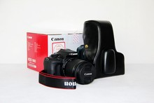 High Quality Brand New Popular Camera Hard Case +Strap For Canon 100D Camera Bag Black Free Shipping(China)
