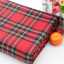 retail or wholesale Scottish Style Red plaid Lattice Fabric cloth 145cm*100cm(China)