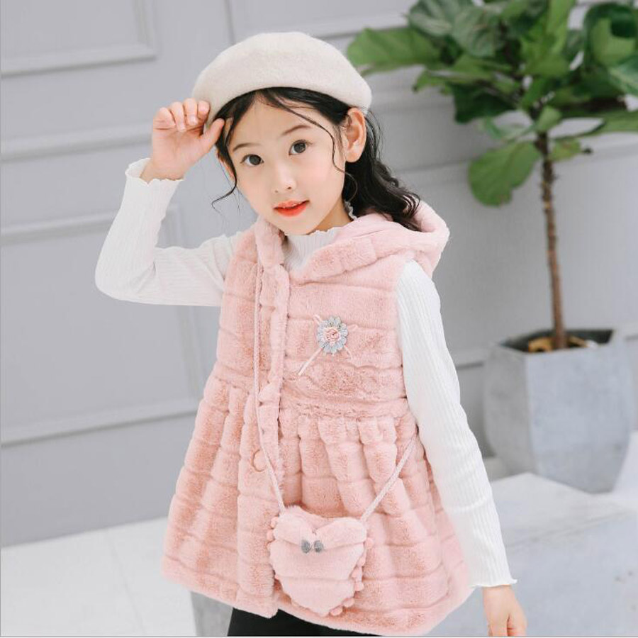 Baby Girl Dress Cute Pink Princess Dress Girl Winter Clothes Hooded Backpack Childrens Clothes Winter Childrens Clothing<br>