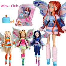 Lovix Fairy Winx Club Doll rainbow colorful girl Action Figures Dolls with Wings and Mysterious box Classic Toys For Girls Gift(China)