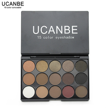 Ucanbe Brand Professional 15 Earth Colors Matte Eyeshadow Palette Pigments Makeup Shimmer Eye Shadow Powder Contour Cosmetic Set(China)