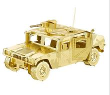 DIY 3D Puzzle Metal Earth 3D Laser Cut Model 3D Jigsaws DIY Gift scale models USA Hummer H1 juguetes toys brinquedo