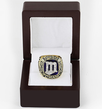 Cost Price 1987 Minnesota Twins World Series Baseball Replica Copper High Quality Championship Ring with Gorgeous Wooden Boxes(China)