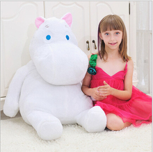 Genuine Huge 60cm Moomin Hippo Plush Toy Stuffed Animal Doll Valentine's Day gift lover Free shipping