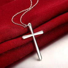 Buy Necklace Women/Men Jewelry Wholesale Trendy 925 stamped silver plated INRI Crucifix Jesus Cross Chain Pendant for $2.54 in AliExpress store