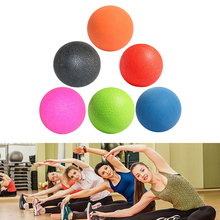 1Pcs Lacrosse Massage Ball for Myofascial Release Fitness Therapy Gym Relax Exercise Hockey Ball For Yoga 6 Colors(China)