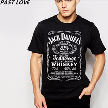 PAST LOVE Brand Hot sale New JACK DANIELS T-shirt,black man cultivate one's morality round collar short sleeve men's T-shirts