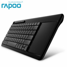 Rapoo K2600 2.4G Wireless Touch Keyboard Slim Keyboards with Big Touch Pad Panel for Smart TV/Laptop/Computer/Tablet(China)