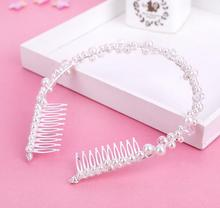 European Design Crystal Bridal Hair Comb Tiara Wedding fashion crystal rhinestone bridal crown and tiara jewelry  Accesories