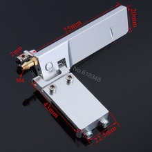 5pcs/Lot Rudder 75mm Long Width 45mm with Water Pickup Inlet Aluminum For Electric Brushless Gas RC Boat Accessories CNC(China)