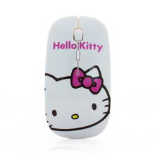 Wireless Mouse Super Thin Hello Kitty 2.4G USB Optical Mause Mice for Computer Accessories Lovely Slim