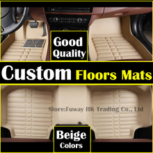 high strength pedal Custom fit car floor mats leather for Toyota corolla Reiz RAV4 Camry 3D car styling carpet liner waterproof