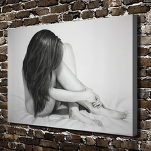 C_X404 Sexy Long Hair Girl Naked Figure Scenery.HD Canvas Print Home decoration Living Room bedroom Wall pictures Art painting
