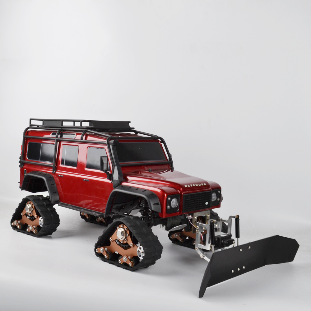 RC Metal Radio Control Snow Shovel And Servo for Traxxas TRX4 TRX-4 D90 D110 SCX10 1/10 RC Crawler Car Snow Sweeping Tools(China)