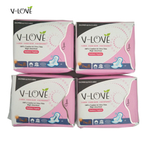 Free Shipping VLOVE Sexy There ions Sanitary Napkins for Women with Butterfly Wings245mm 4Packs/set