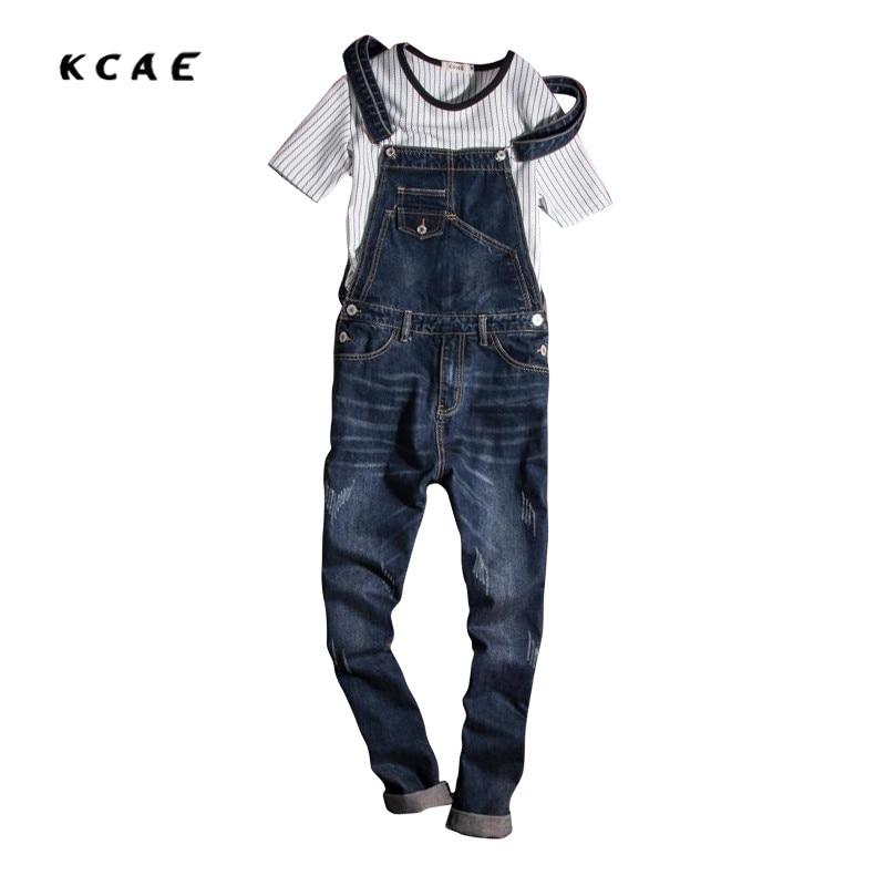 New Mens Overalls Fashion Vintage Ripped Jeans Pants Blue Male Denim Jumpsuits Jeans Man Slim Fit Bib Overalls Jeans For MenÎäåæäà è àêñåññóàðû<br><br>