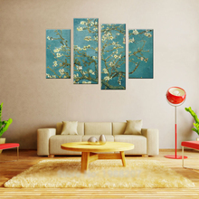 Van Gogh Oil Painting Reproductions 4 P Abstract Canvas Art Blossoming Almond Tree Picture Modern Wall Decor