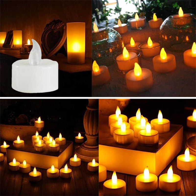 6pc LED Tea Light Candles Realistic Battery-Powered Flameless Candles01