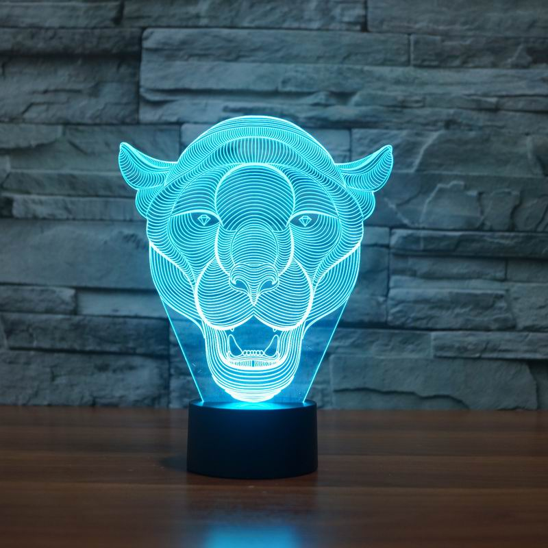 Lion Face 3D LED Light 4