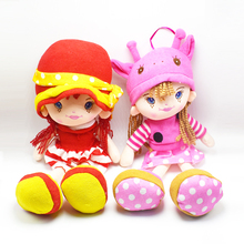38CM Red/Pink New Fashion Girls dolls plush and stuffed dress giraffe Hat girls Doll toys birthday gifts baby girl's first doll