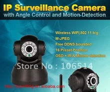 Wireless IP Camera webcam Web Camera Wifi Network IR NightVision P/T Rotation EasyN With Color BOX