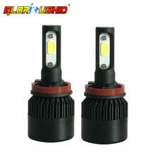 Buy One Pair Car Light H11 H8 H9 LED Headlight COB Chip 72W 8000LM Auto Front Headlamp Fog Light Bulb 6500k White Xenon H11 for $23.80 in AliExpress store