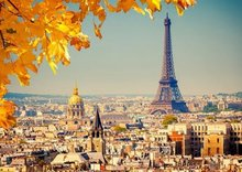 Landscape puzzle 1000 pieces Autumn Paris jigsaw puzzle white card adult children's educational toys jigsaw puzzles for adults