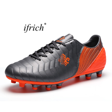 New Arrival Football Soccer Shoes for Men Children Soft Ground Soccer Shoes Long Spikes Football Trainers Boys Kids Trainers(China)