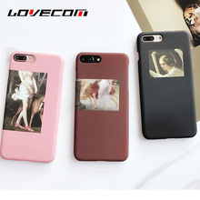 LOVECOM Fashion Retro Oil Painting Abstract character Matte Hard PC Phone Case For iPhone 7 7 Plus Back Cover Bag(China)